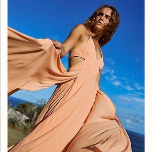 Free People Lille Maxi Dress - Rose Fizz